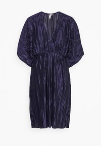 Nly by Nelly - PLEATED KIMONO DRESS - Cocktailjurk - navy - 3