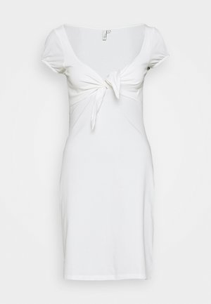 TIE FLIRTY DRESS - Day dress - white