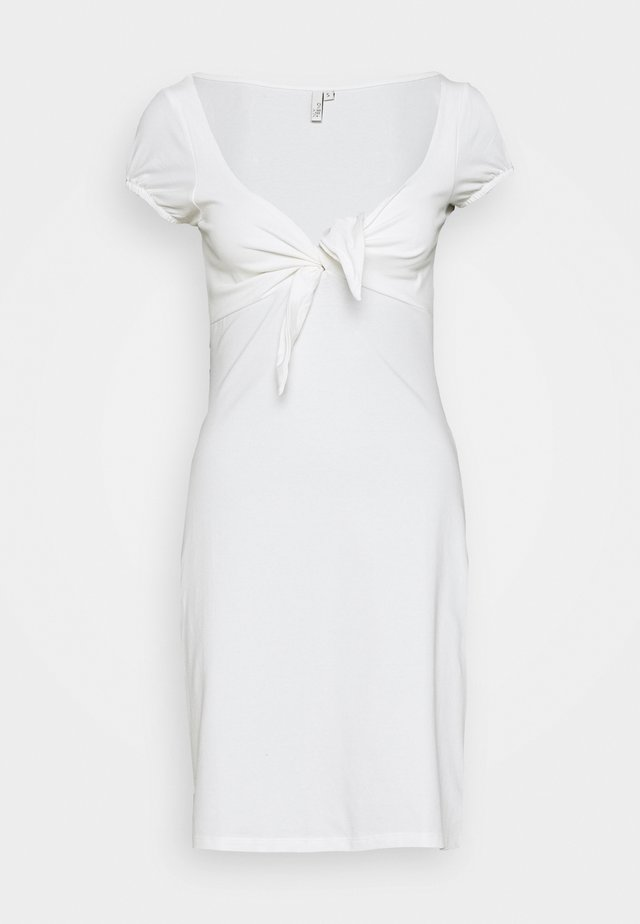 TIE FLIRTY DRESS - Vestido informal - white