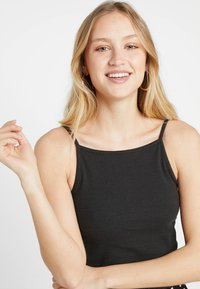 Nly by Nelly - STRAIGHT NECKLINE - Top - black - 4