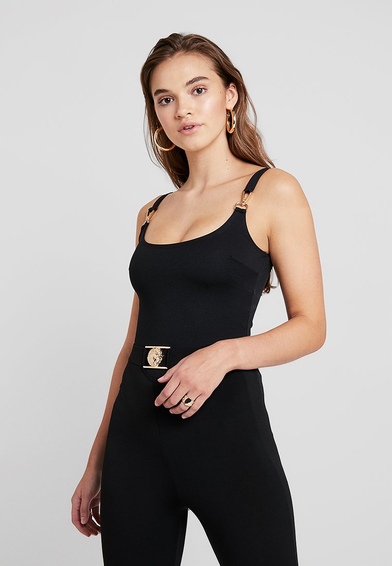 Nly by Nelly - BUCKLE STRAP - Shift dress - black