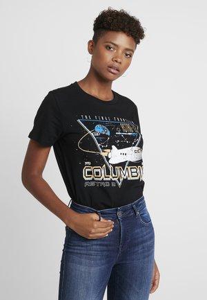 INTERGALACTIC TEE - T-shirt imprimé - black