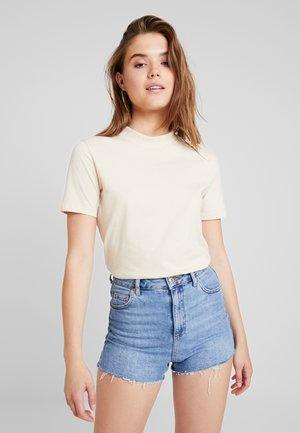 HIGH NECK TEE - T-shirt basic - sandshell