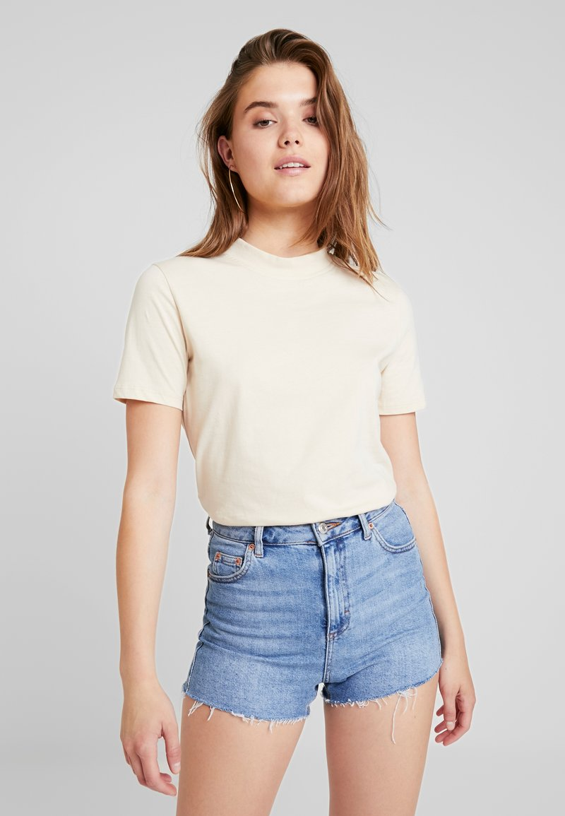 Nly by Nelly - HIGH NECK TEE - T-Shirt basic - sandshell