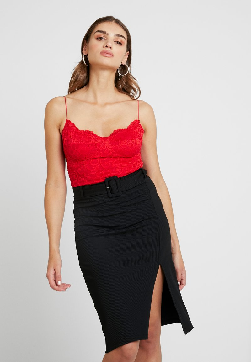 Nly by Nelly - STRAP BODYSUIT - Top - red