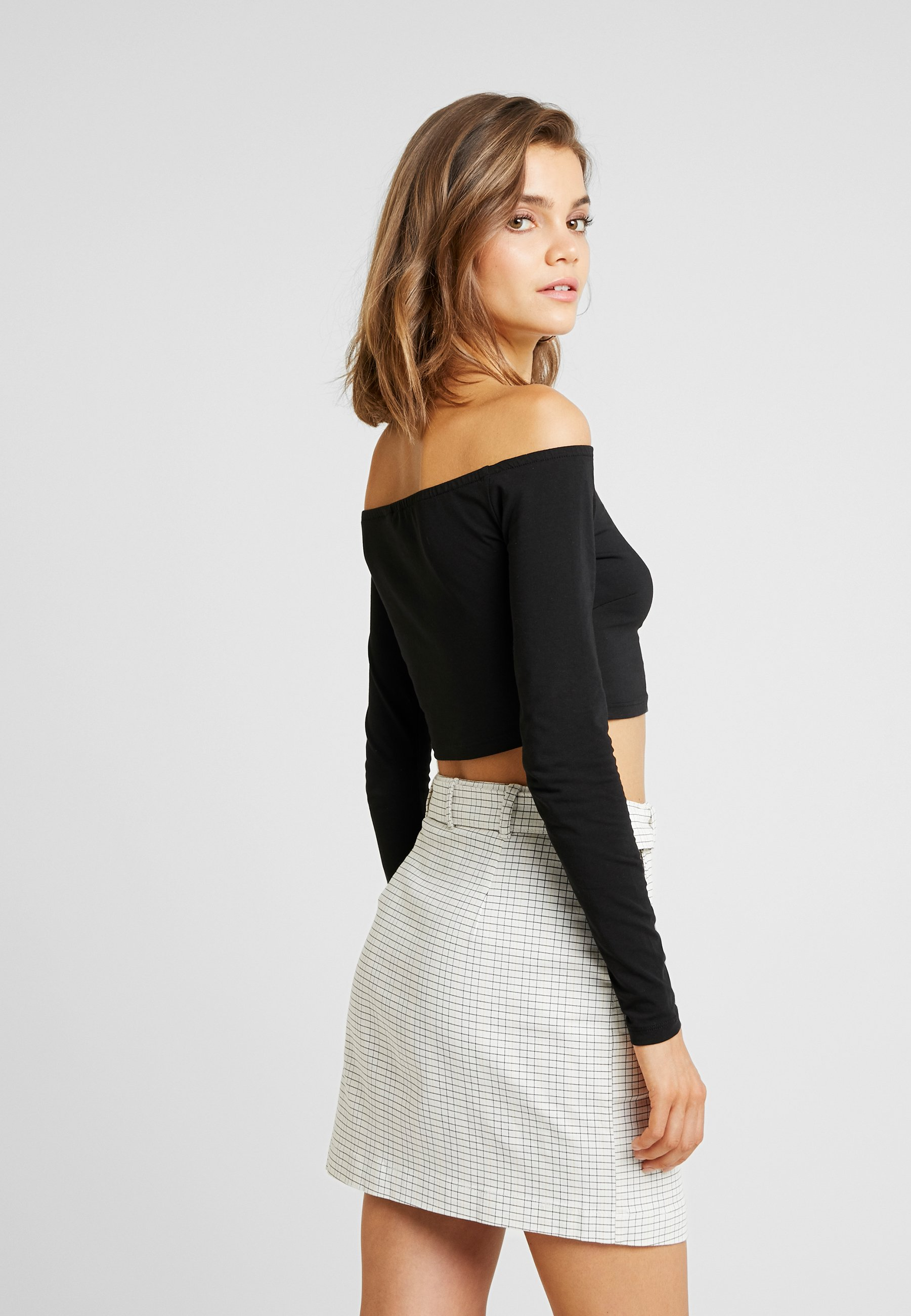 Black Nelly Off Longues Nly By Manches TopT shirt Crop Duty À SMVzqUp
