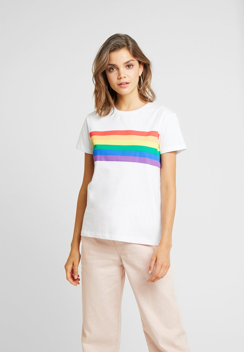 Nly by Nelly - BE YOU TEE - Camiseta estampada - white