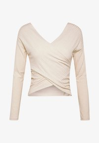 Nly by Nelly - CRISS CROSS SHOULDER - Topper langermet - beige - 4