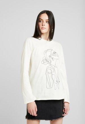 ONE LINE - Långärmad tröja - white
