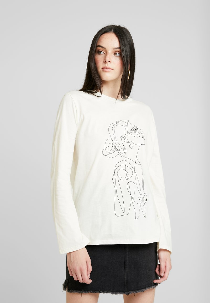 Nly by Nelly - ONE LINE - Topper langermet - white