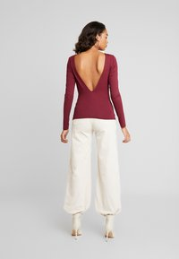 Nly by Nelly - DEEP BACK - Longsleeve - burgundy - 2