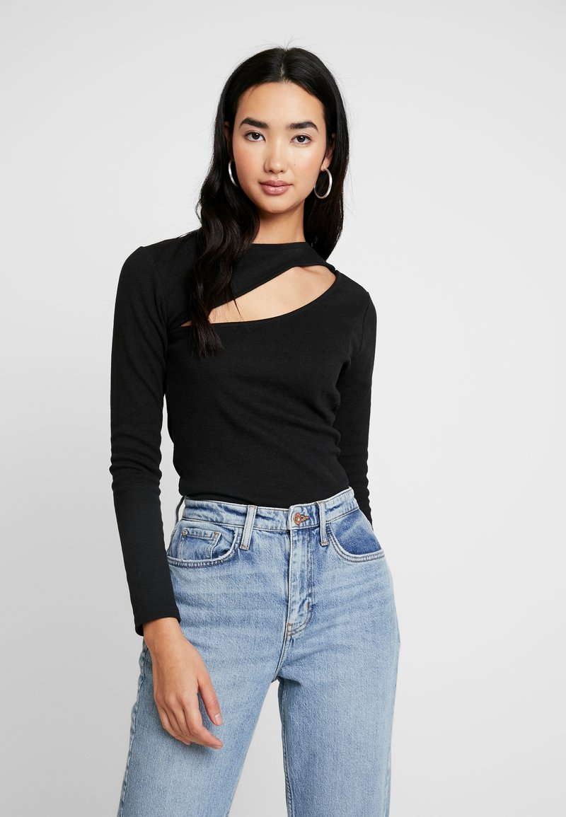 Nly by Nelly - CUT OUT - Long sleeved top - black