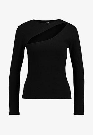 CUT OUT - Bluzka z długim rękawem - black