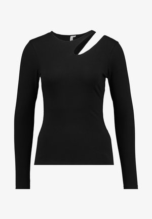 CUT OUT - Topper langermet - black