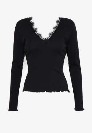 DEEP V - Long sleeved top - black