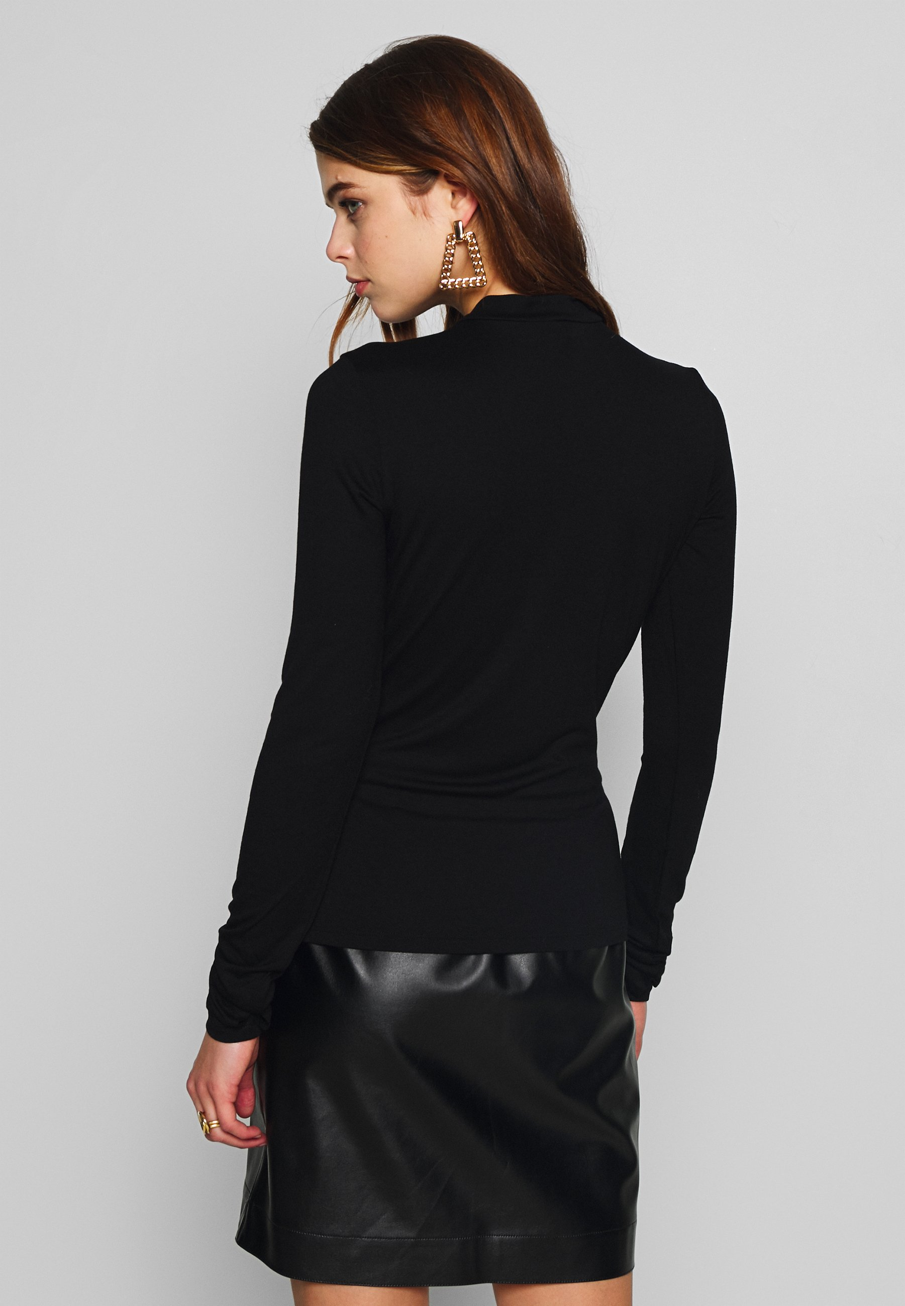 Nly by Nelly SLEEVE DETAIL - Topper langermet - black