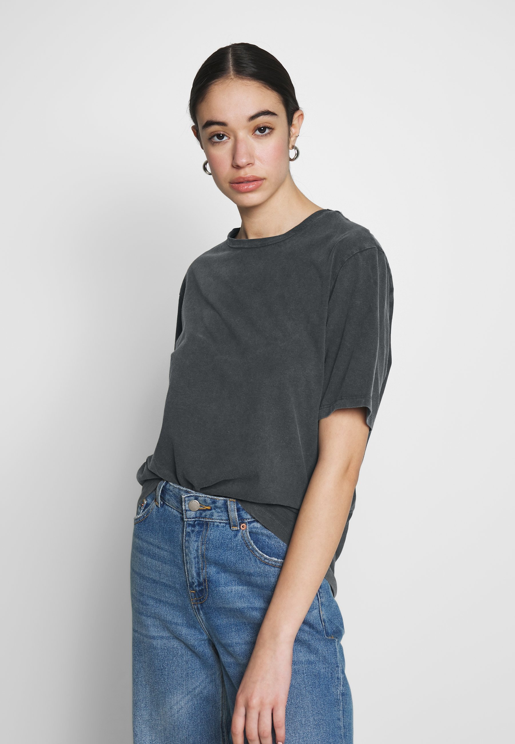 Nly by Nelly WASHED OUT TEE - T-shirts - offblack