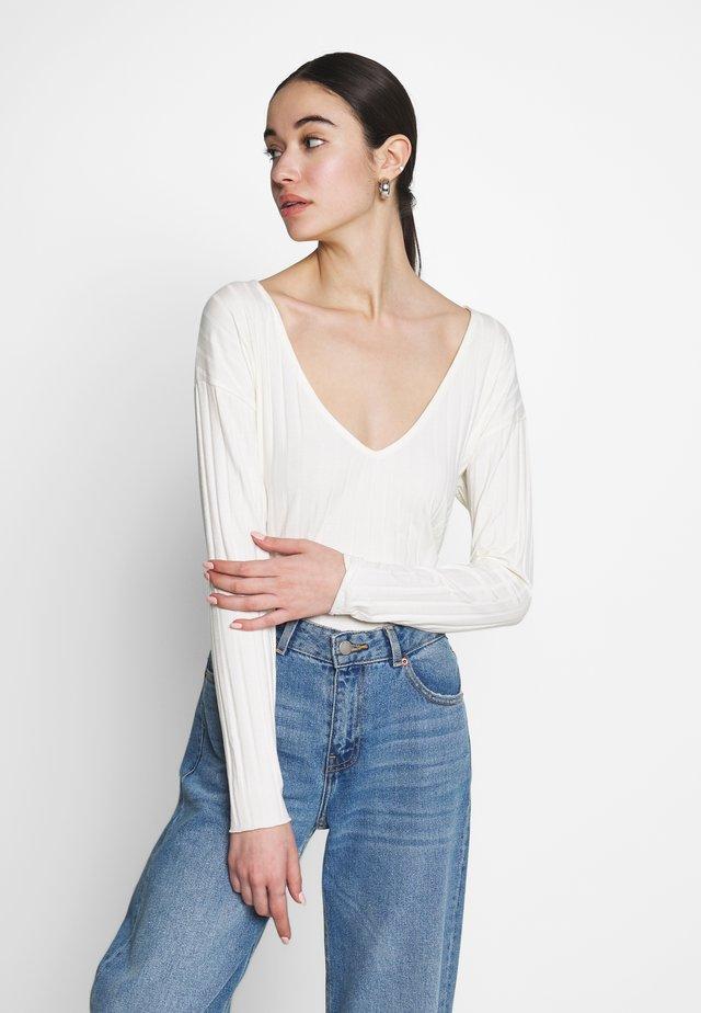PERFECT RIB  - T-shirt à manches longues - white