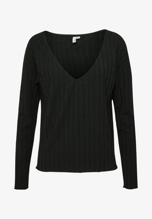 PERFECT RIB  - Long sleeved top - black