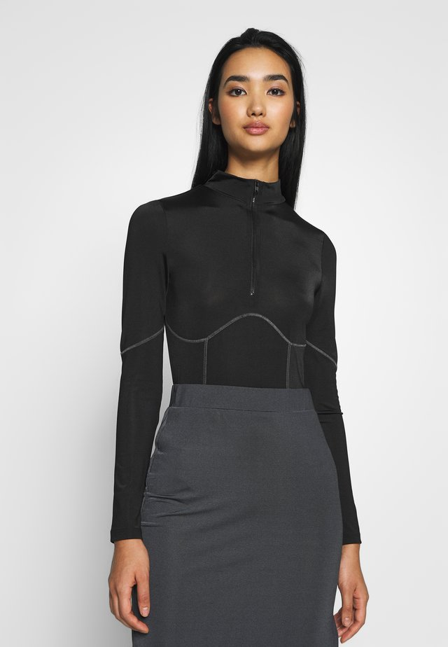 CONTRAST SEAM - Body - black