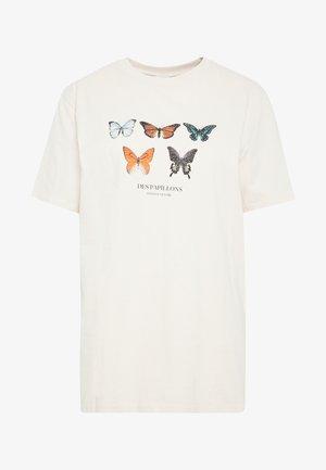 OVERSIZE EXPRESSION TEE - T-shirt imprimé - white