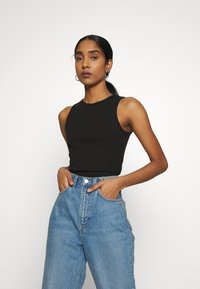 Nly by Nelly - CUTE TANK - Top - black - 0