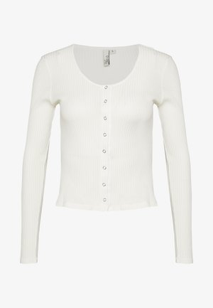 FRONT BUTTON TOP - Gilet - white