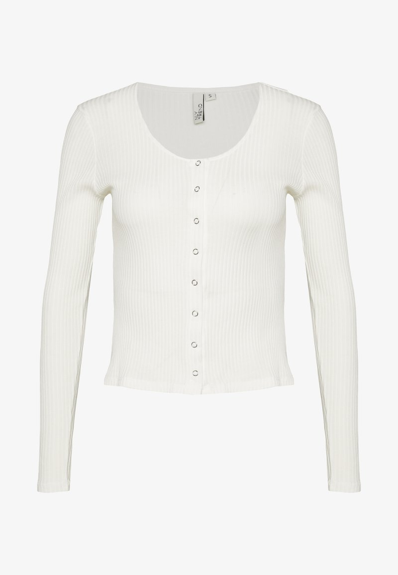 Nly by Nelly - FRONT BUTTON TOP - Cardigan - white