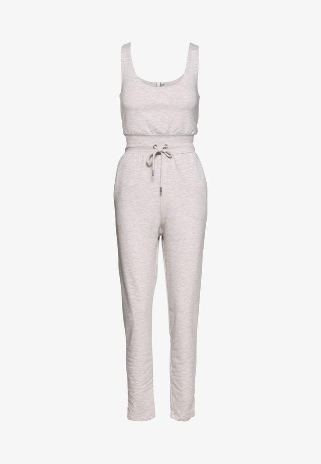 LOOK AT ME SET - Pantalon de survêtement - beige mélange