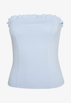CURVE FRILL - Top - light blue