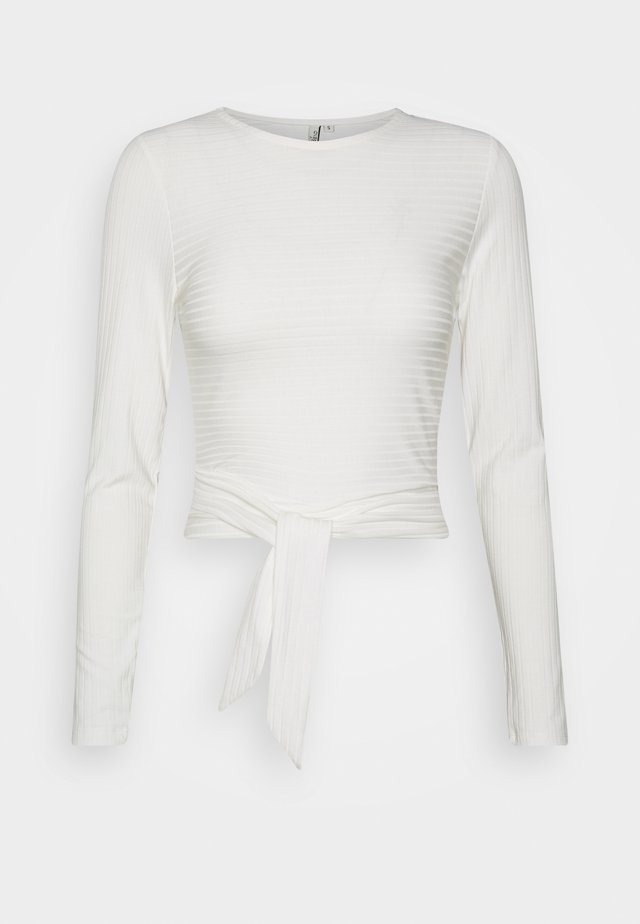 TIE BACK - Long sleeved top - white