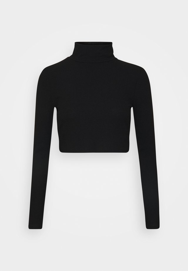 LIGHT CROP  - T-shirt à manches longues - black