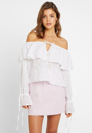 OFF SHOULDER BOHO BLOUSE - Blůza - white