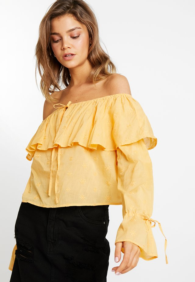 OFF SHOULDER BOHO BLOUSE - Bluse - yellow