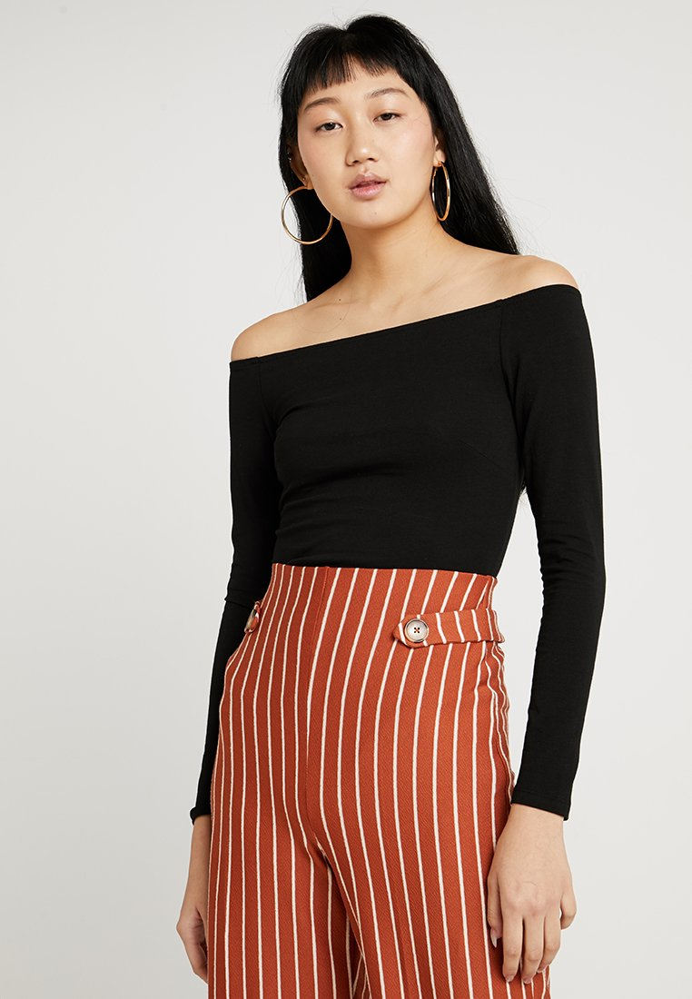 Nly by Nelly - OFF DUTY SHOULDER - Maglietta a manica lunga - black