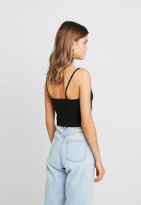 Nly by Nelly - CAMI TANK - Linne - black - 2
