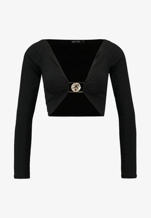 LIONESS CROP - T-shirt à manches longues - black