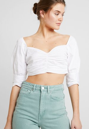 WRINKLE PUFF TOP - Blouse - white