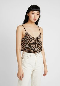 Nly by Nelly - PERFECT SLIP  - Débardeur - black/brown - 0