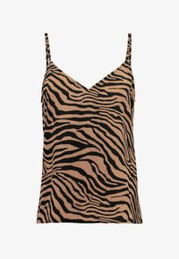 Nly by Nelly - PERFECT SLIP  - Débardeur - black/brown - 3