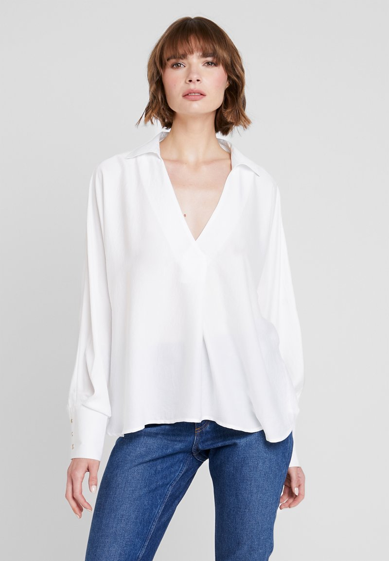 Nly by Nelly - FANCY VOLUME BLOUSE - Blouse - white