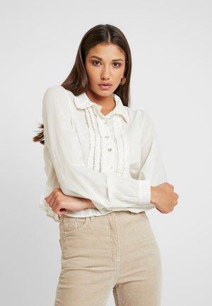 DELIGHTFUL BLOUSE - Button-down blouse - white
