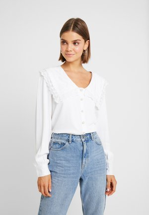 FANCY COLLAR BLOUSE - Bluser - white