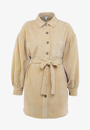 BELTED - Blouse - beige