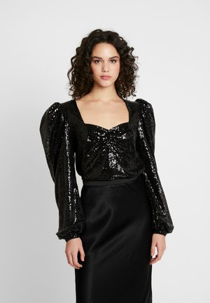PUFF SEQUIN - Blůza - black