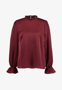 Nly by Nelly - HIGH NECK BLOUSE - Blouse - burgundy - 4