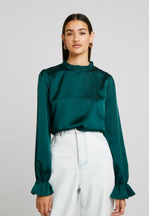 HIGH NECK BLOUSE - Bluser - dark green