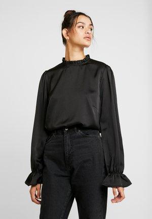 HIGH NECK BLOUSE - Bluse - black