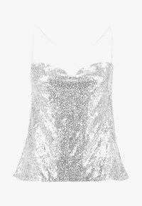 Nly by Nelly - DRAPED SEQUIN SINGLET - Topper - silver - 4