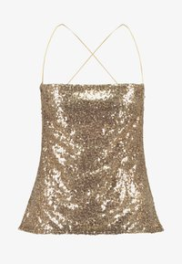 Nly by Nelly - DRAPED SEQUIN SINGLET - Topper - gold - 3